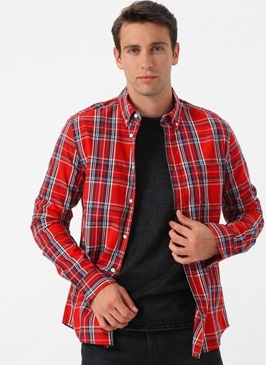 Lee&Wrangler Lee & Wrangler Kırmızı Kareli Gömlek Kırmızı